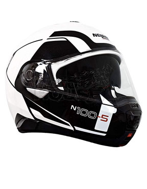 CASCO NOLAN N100-5 CONSISTENCY BLANCO METAL ABATIBLE TALLA L 2019
