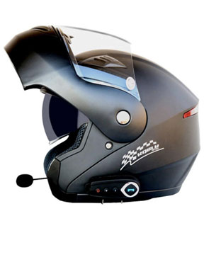 WZXH Casco Bluetooth antiniebla abatible para Moto